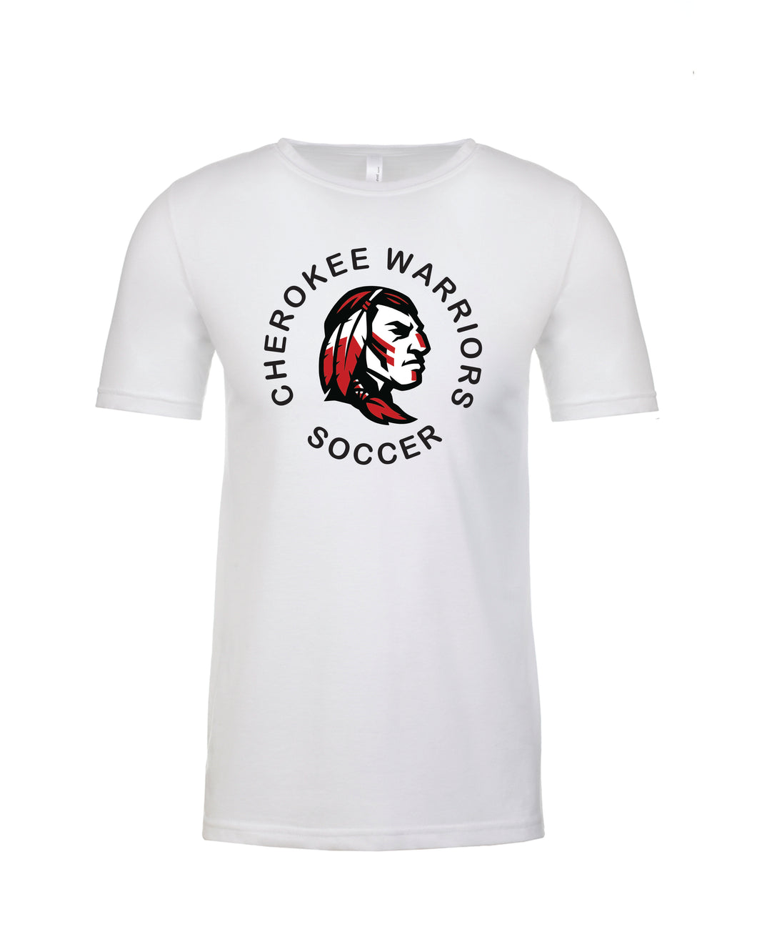 Item CHS-SOC-602-6 - Next Level CVC Crew - Cherokee Warrior Soccer Logo