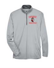 Load image into Gallery viewer, Item CHS-TRK-107-2 - UltraClub Cool & Dry Sport Quarter-Zip Pullover - Cross Spear Track Logo
