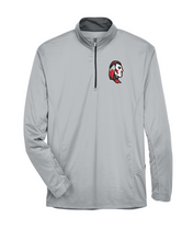 Load image into Gallery viewer, Item CHS-TRK-107-3 - UltraClub Cool & Dry Sport Quarter-Zip Pullover - Warrior Cross Spear Alternative #1 Logo