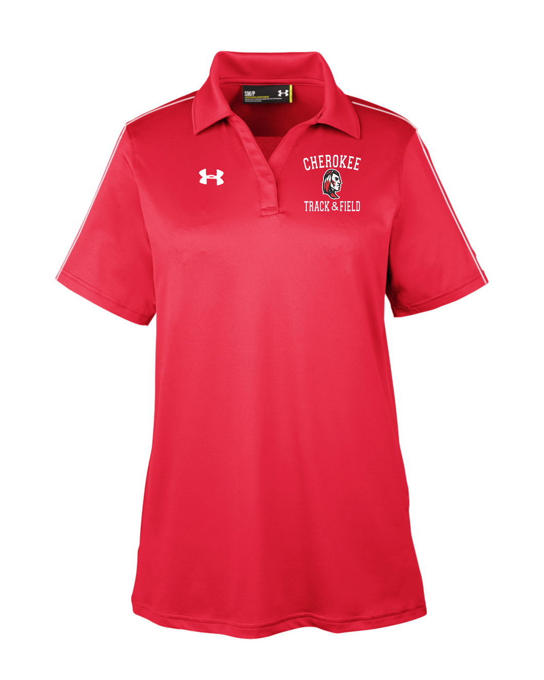 Item CHS-TRK-505-2 - Under Armour Tech Polo - Cross Spear Track Logo