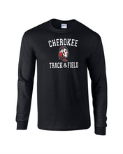 Load image into Gallery viewer, Item CHS-TRK-521-2 -Gildan Adult 5.5 oz., 50/50 Long-Sleeve T-Shirt - 2021 Track & Field Logo