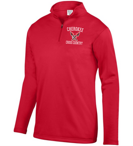 Item CHS-XC-102-2 - Augusta 1/4 Zip Wicking Fleece Pullover - Cherokee Cross Country Logo