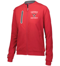 Load image into Gallery viewer, Item CHS-XC-406-2 - Holloway Ladies Weld Jacket - Cherokee Cross Country Logo