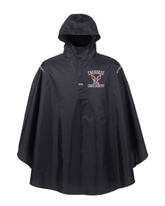 Item CHS-XC-460 - Team 365 Adult Zone Protect Packable Poncho - Cherokee Cross Country Logo