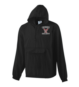 Item CHS-XC-461 - Augusta Pullover Rain Jacket In A Pocket - Cherokee Cross Country Logo
