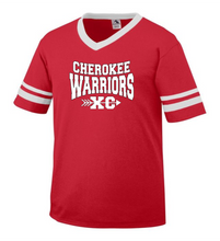 Load image into Gallery viewer, Item CHS-XC-510-4 - Augusta Sleeve Stripe Jersey - Cherokee Warriors XC Logo