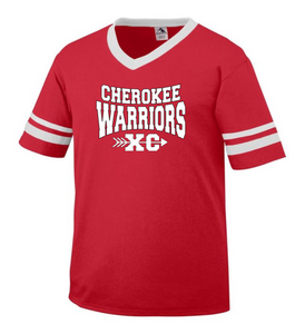 Item CHS-XC-510-4 - Augusta Sleeve Stripe Jersey - Cherokee Warriors XC Logo