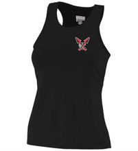 Load image into Gallery viewer, Item CHS-XC-515 -  Augusta Ladies Poly/Spandex Solid Racer-back Tank - CHS Front XC Logo