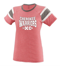 Load image into Gallery viewer, Item CHS-XC-541-4 - Augusta Ladies Fanatic Tee - Cherokee Warrior XC Logo