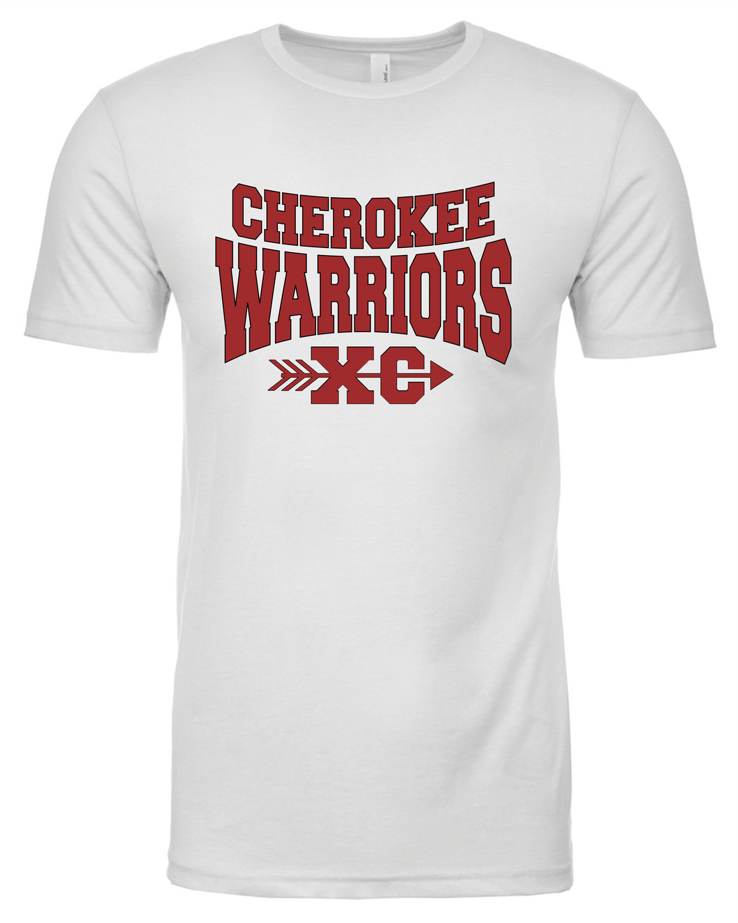 Item CHS-XC-545-5 - Next Level CVC Crew - Cherokee Warriors XC Front and 2020 Warriors on Back Logos