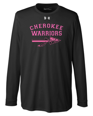 CHS-Cancer-02 - Under Armour Locker T-Shirt 2.0 Long Sleeve - Cherokee Warrior Cancer Awareness