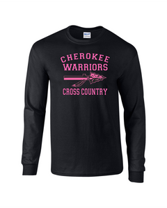 CHS-Cancer-08 - Gildan 5.5 oz., 50/50 Long Sleeve T-Shirt -  Fight Like A Warrior Cancer Awareness