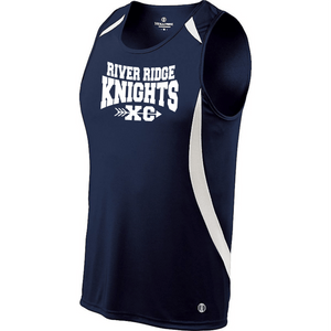 Item RR-XC-706-1 - Holloway Men's SPRINTER SINGLET - River Ridge KNIGHTS XC Logo