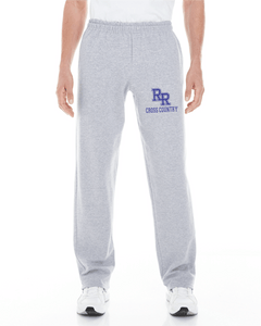 Item RR-XC-303-2 - Gildan Adult Open-Bottom Sweatpants with Pockets - RR Cross Country Logo