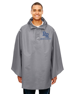 Item RR-XC-460-2 - Team 365 Adult Zone Protect Packable Poncho - RR Cross Country Logo
