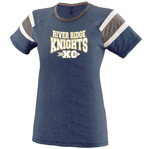 Item RR-XC-521-1 - Augusta Ladies Fanatic Tee - River Ridge KNIGHTS XC Logo