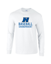 Load image into Gallery viewer, Item HG-BB-518-8 - Gildan 5.5 oz., 50/50 Long-Sleeve T-Shirt - Hobgood BB Grandparent Logo