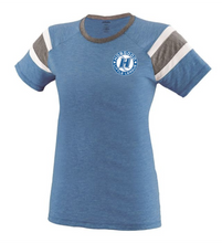 Load image into Gallery viewer, Item HG-BB-641-2 - Augusta Ladies Short Sleeve Fanatic Tee - Hobgood Baseball Logo