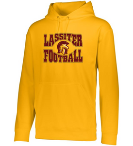 Item LAS-FB-301-4 - Augusta Wicking Fleece Hooded Sweatshirt - Trojan Football Logo