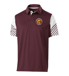 Item RR-FB-503-2 - Holloway Arc Polo - Lassiter Trojan Logo