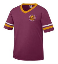 Load image into Gallery viewer, Item LAS-FB-510-2 - Augusta Sleeve Stripe Jersey - Lassiter Trojan Logo