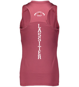 Item LAS-FB-522-6 - Augusta Ladies Crossover Tank - Football Laces & Back Logo