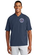 Load image into Gallery viewer, Item RR-FB-112-2 - New Era Cage Short Sleeve 1/4 Zip Jacket - RR Marching Band Logo