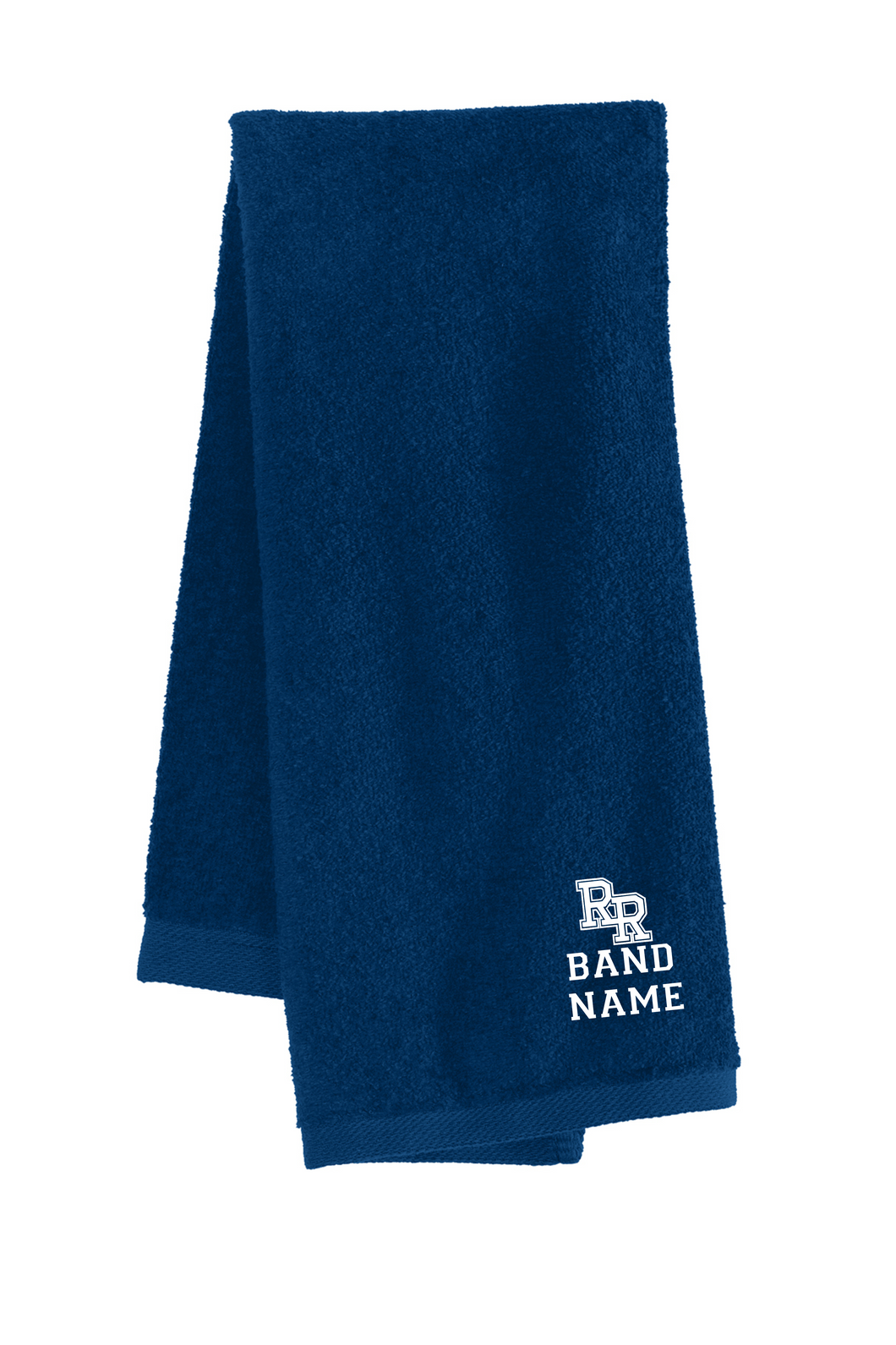 Item RR-BND-982-3 - Port Authority Sport Towel - RR Band Logo & Last Name - 16X26 Inches