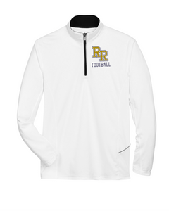 Item RR-FB-107-1 - UltraClub Cool & Dry Sport Quarter-Zip Pullover - RR Football Logo