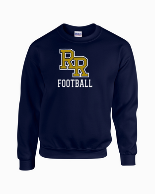 Item RR-FB-304-1 - Gildan Adult 8 oz., 50/50 Fleece Crew - RR Football Logo