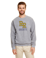Load image into Gallery viewer, Item RR-FB-304-2 - Gildan Adult 8 oz., 50/50 Fleece Crew - RR KNIGHTS Logo