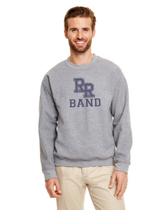 Item RR-BND-304-3 - Gildan Adult 8 oz., 50/50 Fleece Crew - RR Band Logo