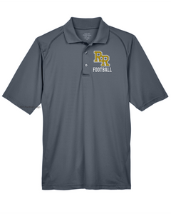 Item RR-FB-501-1 - Extreme Performance™ Shield Snag Protection Short-Sleeve Polo - RR Football Logo