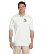Load image into Gallery viewer, Item RR-FB-502-1 - Jerzees Adult 5.6 oz. SpotShield™ Jersey Polo - RR Football Logo