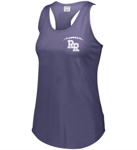 Item RR-FB-521-9 - Augusta Ladies Lux Tri-Blend Tank - Laces & KNIGHTS Back Logo