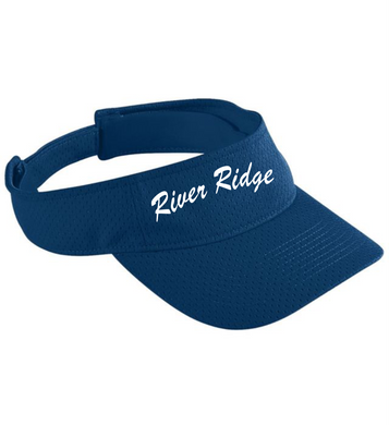 Item RR-FB-904-6 - Augusta Athletic Mesh Visor - River Ridge Script Logo