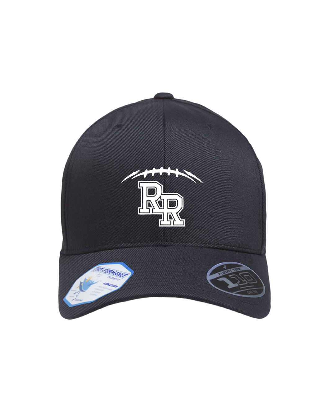 Item RR-FB-910-9 - Flexfit Adult Pro-Formance® Solid Cap - RR FB Laces Logo