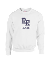 Load image into Gallery viewer, Item RR-LAX-304-1 - Gildan Adult 8 oz., 50/50 Fleece Crew - RR Lacrosse Logo