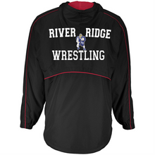 Load image into Gallery viewer, Item RR-WW-405 - Holloway Wizard Pullover Jacket - Front RR Wrestling Logo and Back - River Ridge Wrestling