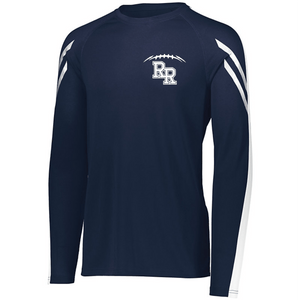 Item RR-FB-535-9 - Holloway Flux Shirt Long Sleeve -  RR Football  Laces Logo