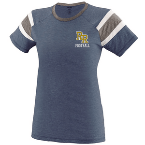 Item RR-FB-509-1 - Augusta Ladies Short Sleeve Fanatic Tee - RR Football Logo