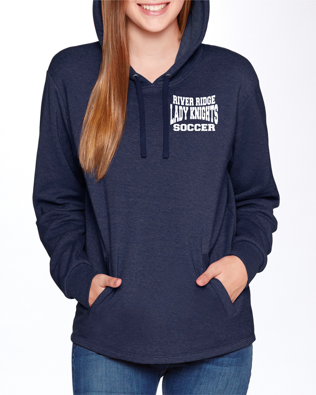 Item RR-SOC-108-2 Next Level Adult PCH Pullover Hoodie - RR KNIGHTS Soccer Logo