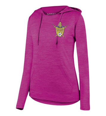 Item RR-SOC-111-1 - Augusta Ladies Shadow Tonal Heather Hoodie - RR Lady KNIGHTS Soccer Logo