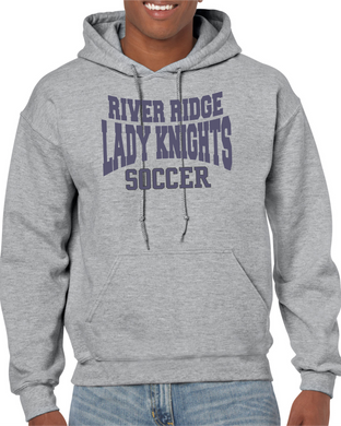 Item RR-SOC-301-2 Gildan Adult 8 oz., 50/50 Fleece Hoodie - River Ridge KNIGHTS Soccer Logo