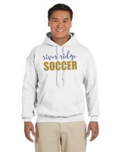 Load image into Gallery viewer, Item RR-SOC-301-3 Gildan Adult 8 oz., 50/50 Fleece Hoodie - River Ridge Soccer Logo