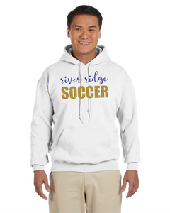 Item RR-SOC-301-3 Gildan Adult 8 oz., 50/50 Fleece Hoodie - River Ridge Soccer Logo