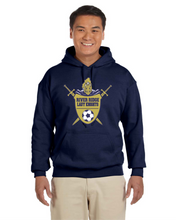 Load image into Gallery viewer, Item RR-SOC-301-1 Gildan Adult 8 oz., 50/50 Fleece Hoodie - River Ridge Lady KNIGHTS Soccer Logo