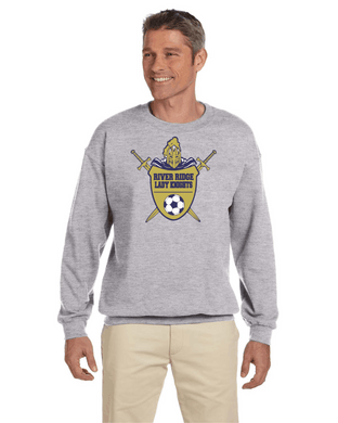 Item RR-SOC-304-1 - Gildan Adult 8 oz., 50/50 Fleece Crew - RR Lady KNIGHTS Soccer Logo