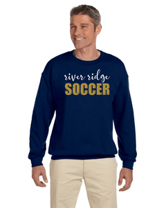 Item RR-SOC-304-3 - Gildan Adult 8 oz., 50/50 Fleece Crew - RR Soccer Logo