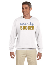 Load image into Gallery viewer, Item RR-SOC-304-3 - Gildan Adult 8 oz., 50/50 Fleece Crew - RR Soccer Logo